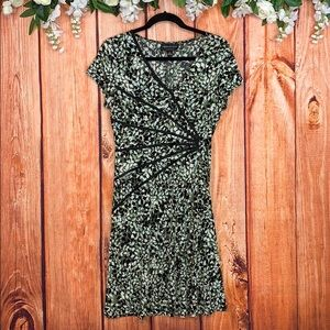Connected Apparel Geo Print A-line Dress